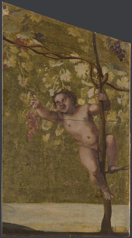 Young Satyr gathering Grapes