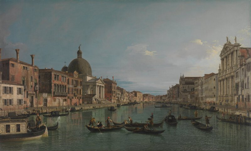 Canaletto Venice The Grand Canal With S Simeone