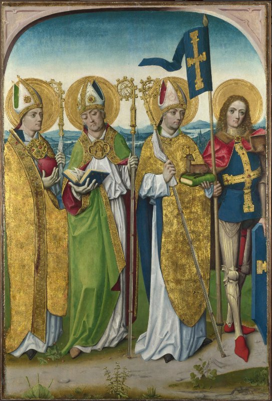 Saints Augustine, Hubert, Ludger (?) and Gereon (?)