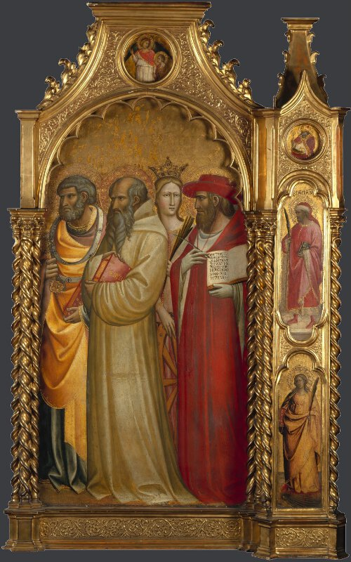 Saints Peter, Romuald, Catherine and Jerome