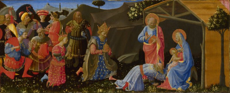 Probably By Zanobi Strozzi The Adoration Of The Kings
