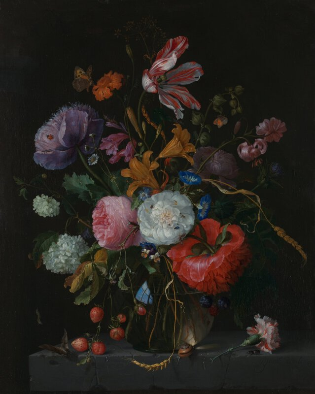 Jacob Van Walscapelle Flowers In A Glass Vase Ng1002 National