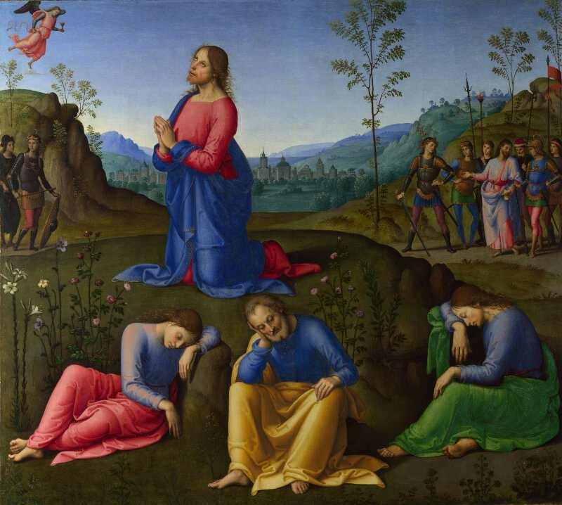 Probably By Lo Spagna The Agony In The Garden Ng1032 National Gallery London
