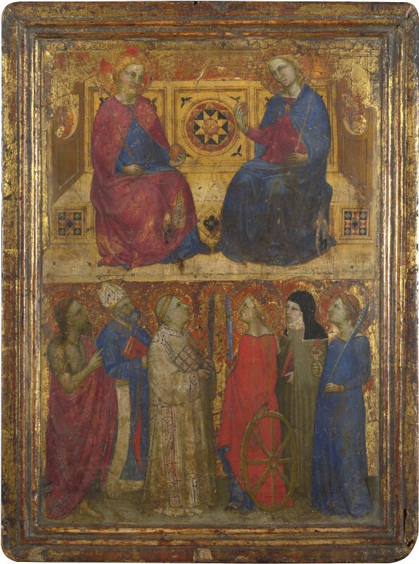 Christ and the Virgin Enthroned with Six Saints