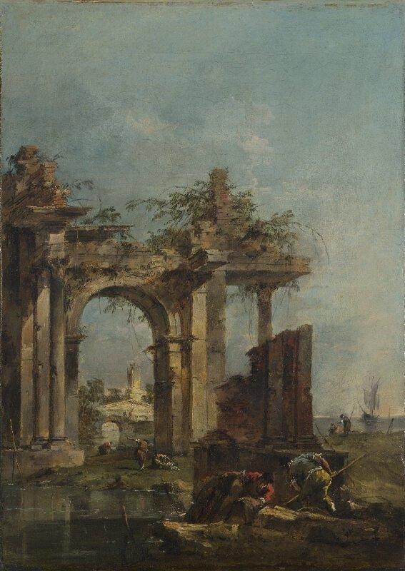 Francesco Guardi: A Caprice With Ruins On The Seashore