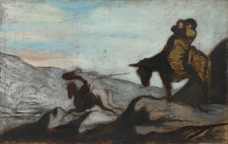 Honore Victorin Daumier Don Quixote And Sancho Panza Ng3244