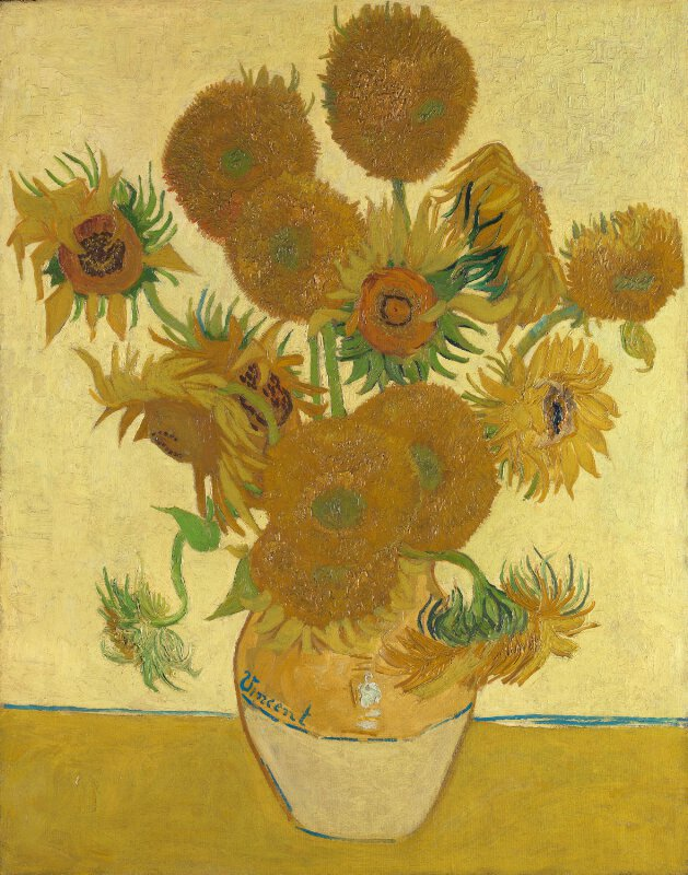 Vincent Van Gogh Sunflowers Ng3863 National Gallery London