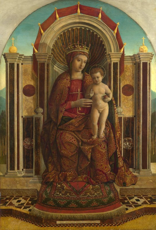 Gentile Bellini The Virgin And Child Enthroned Ng3911