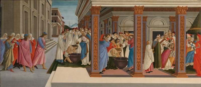 Sandro Botticelli Four Scenes From The Early Life Of Saint