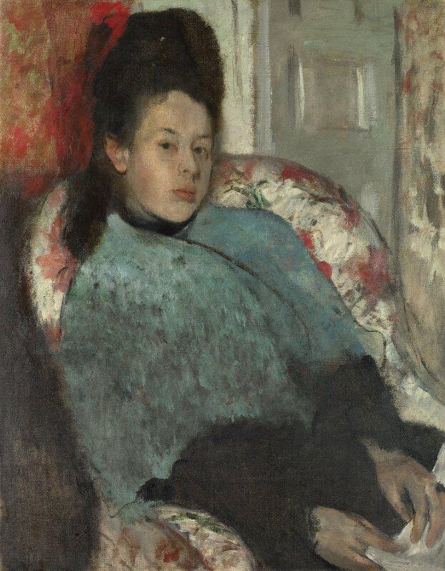 Hilaire-Germain-Edgar Degas | Portrait of Elena Carafa ...