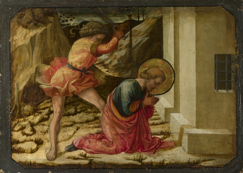 Artist Painted Jerome And John The Baptist
