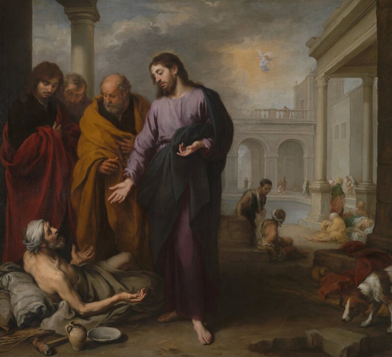 Christ Healing The Paralytic At Pool Of Bethesda
