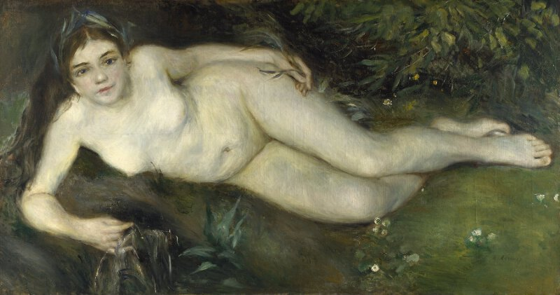 pierre auguste renoir a nymph by a stream ng5982 national
