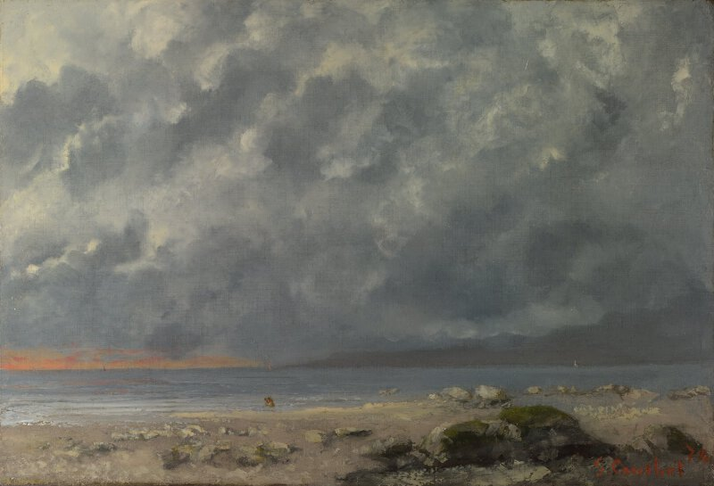 Gustave Courbet Beach Scene Ng6396 National Gallery