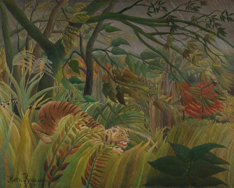 Henri Rousseau Surprised Ng6421 National Gallery London