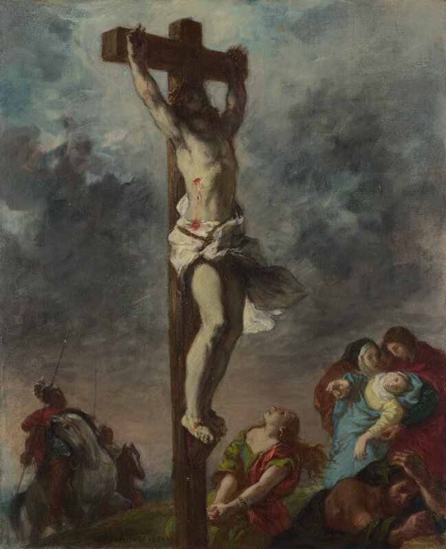 eugène delacroix christ on the cross ng6433 national gallery