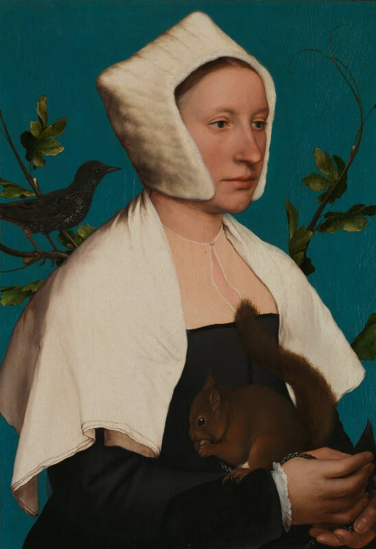 A Lady with a Squirrel and a Starling (Anne Lovell?)
