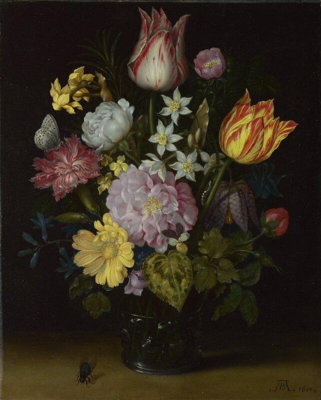 Ambrosius Bosschaert The Elder Flowers In A Glass Vase Ng6549