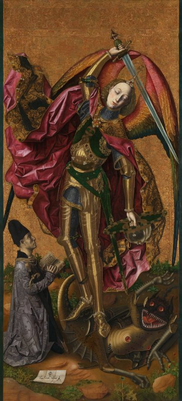 bartolomé bermejo saint michael triumphs over the devil ng6553