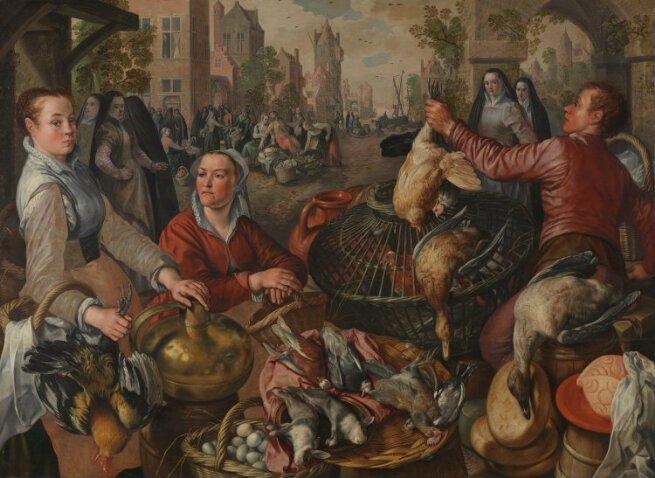 Four Elements Art : Joachim beuckelaer the four elements: air ng6587 national