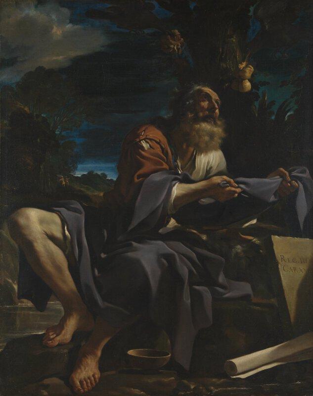 Guercino Elijah Fed By Ravens Ng6612 National