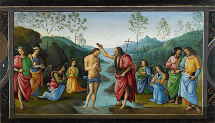 Perugino, 'The Baptism of Christ', about 1497 Musée des Beaux-Arts, Rouen