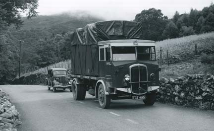 Truck driving through Welsh hills - Gallery at War