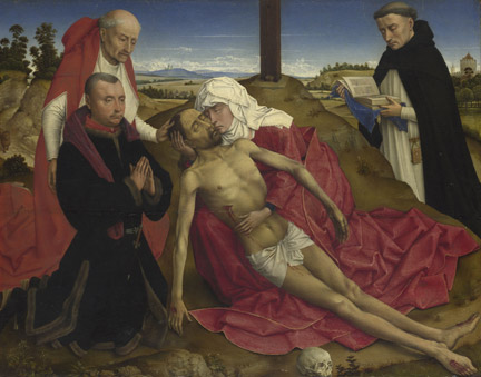 Probably Workshop of Rogier van der Weyden, 'Pieta', about 1399–1464 © The National Gallery, London