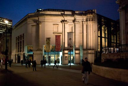 Sainsbury Wing Evening Exterior