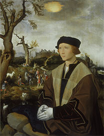 Jan Mostaert, 'Portrait of a Young Man'.