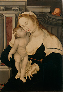 Hans Baldung after Jean Gossart, 'Virgin and Child'.