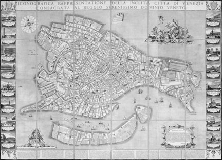 Ludovico Ughi, 'Map of Venice', 1729 © akg-images / Cameraphoto