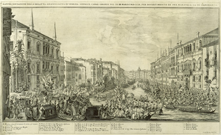 Giuseppe Baroni, after Luca Carlevaris, 'The Grand Regatta of Venice in 1709', about 1710