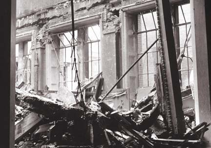 Bombed room - Gallery at War