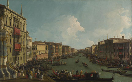 Canaletto, 'Venice: A Regatta on the Grand Canal', about 1735