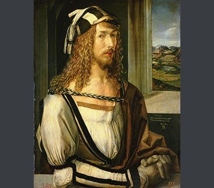 Albrecht Dürer, 'Self Portrait', 1498. Museo Nacional del Prado, Madrid