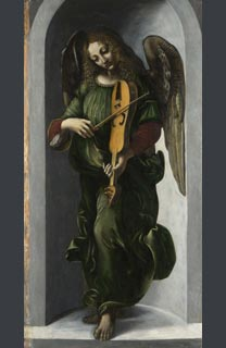 Associate of Leonardo, 'An Angel in Green with a Vielle', before 1506