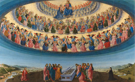 Francesco Botticini, The Assumption of the Virgin, 1475-6 © The National Gallery, London