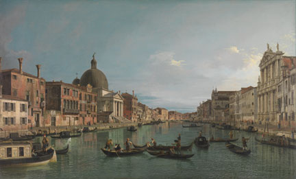Canaletto, 'Venice: The Grand Canal with S. Simeone Piccolo', about 1740