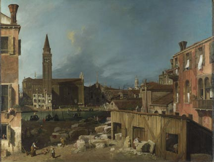 Canaletto, 'The Stonemason's Yard', 1727-8