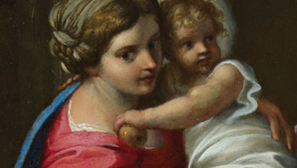Detail from Annibale Carracci, The Holy Family with the Infant Saint John the Baptist ('The Montalto Madonna'), about 1600.