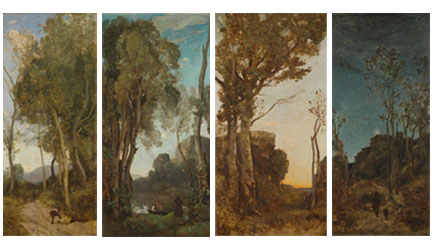 Jean-Baptiste-Camille Corot, The Four Times of Day, about 1858