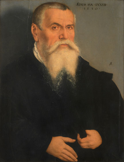 Lucas Cranach the Elder, 'Portrait of Lucas Cranach the Elder' © Galleria degli Uffizi, Florence © Photo Scala, Florence - courtesy of the Ministero Beni e Att. Culturali