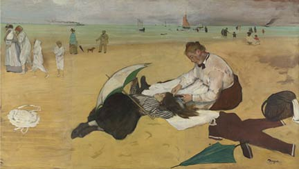 Degas, 'Beach Scene', about 1869-70