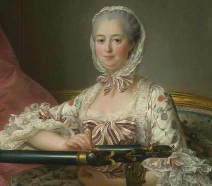 Detail from Drouais, 'Madame de Pompadour at her Tambour Frame', 1763-4