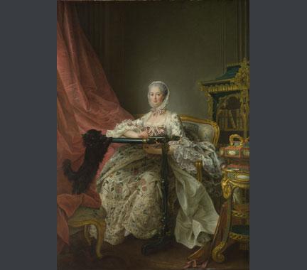 Drouais, 'Madame de Pompadour at her Tambour Frame', 1763-4