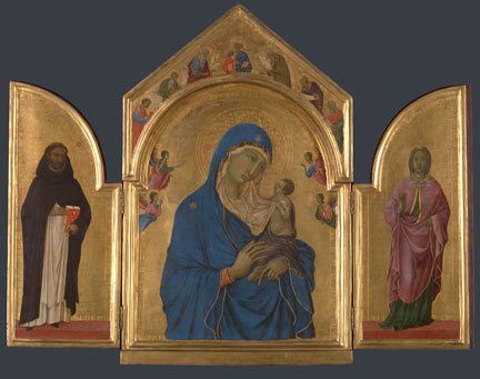 Duccio di Buoninsegna's The Virgin and Child with Saints Dominic and Aurea