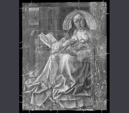 Composite X-radiograph from Follower of Robert Campin, 'The Virgin and Child before a Firescreen'