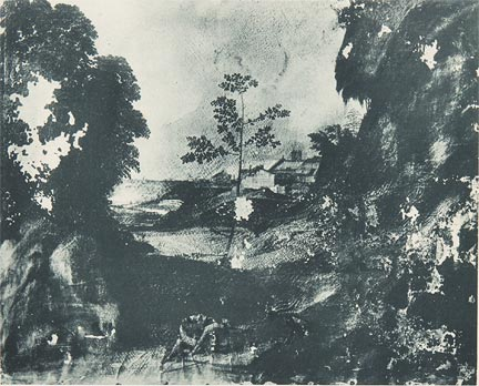 Giorgione, Il Tramonto (The Sunset), Pre-restoration image from the London Illustrated News, 4 November 1933