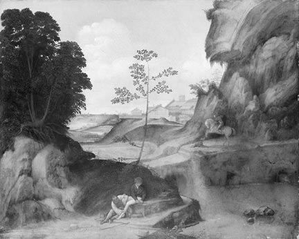 Giorgione, Il Tramonto (The Sunset), post-restoration by Theodore Dumler